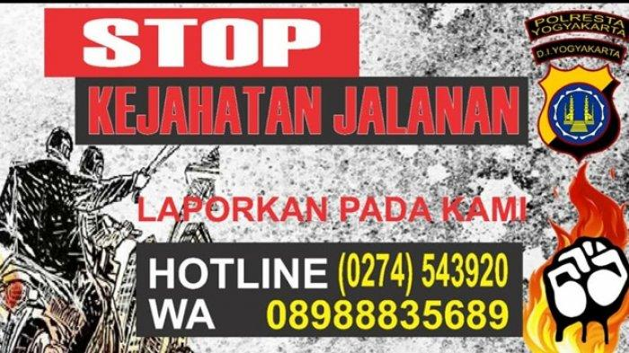 Fenomena Kejahatan Jalanan di Yogyakarta, Polda DIY Buka Aduan